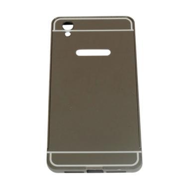 watch f6c99 82b2d QCF Bumper Mirror Alumunium Metal Sliding Hardcase Casing for Oppo A37 or  Neo 9 - Hitam