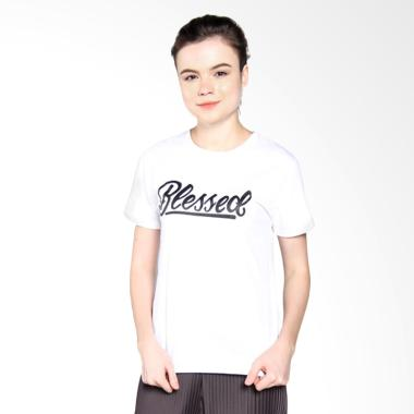 Ellipses Inc Tumblr Tee T-Shirt Blessed Kaos Wanita .
