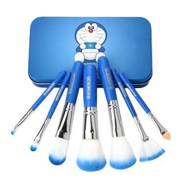 Kuas Make Up Brush Set Doraemon 7 in 1 Kaleng