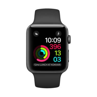 PROMO Apple Watch Series 1 42mm Black Sport Band (MP032) Garansi Resmi