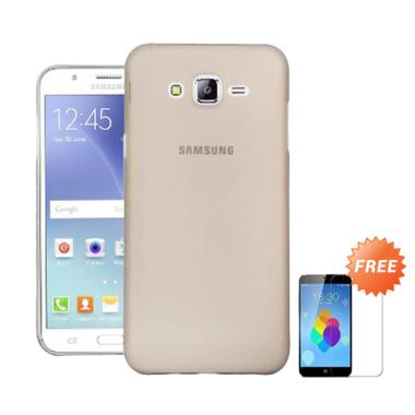 OEM Ultra Thin Softcase Casing for Samsung Galaxy J7 Prime - Abu-abu + Free
