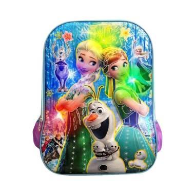 Autorace Disney Frozen Karakter 3D  ... Tas Sekolah Anak - Purple