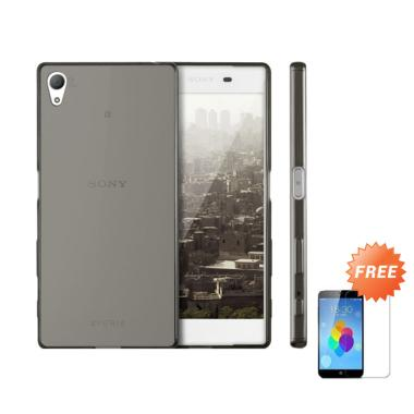 Case Ultra Thin Softcase Casing for Sony Xperia Z3 Plus - Abu-abu + Free Tempered Glass