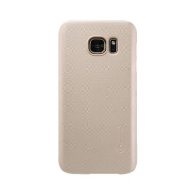 Nillkin ORIGINAL Super Frosted Shield Samsung Galaxy S7 Edge - Gold/Emas Hardcase Backcase Backcover