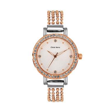 Christ Verra Women's Watch CV 71019 ... Wanita - Silver Rose Gold
