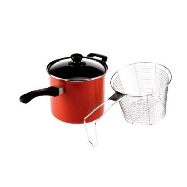 Maspion Maslon Deep Fryer Non Stick ... Serbaguna - Merah [18 cm]