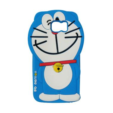 VR Animasi 3D Doraemon Edition Softcase Silicone Casing for Samsung Galaxy S7 Edge - Blue