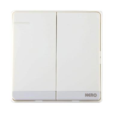 Nero Q71621-W Decora Saklar Listrik - White [2 Gang 1 Way Switch with