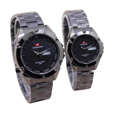 Swiss Army SA2705 Stainless Steel Jam Tangan Couple - Full Black