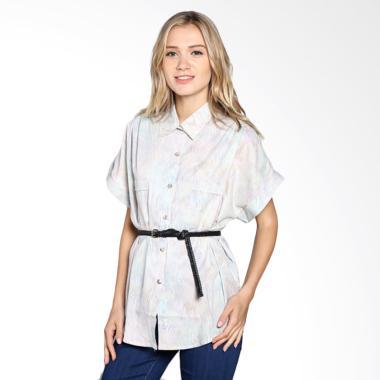 Batik Pria Tampan Wblpd-04081649c W ... Waved Marble Shirt - Ecru