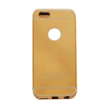 VR Bumper Mirror Alumunium Metal Sl ... le iPhone 5G/5S/SE - Gold