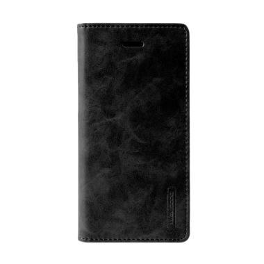 Goospery Mercury Bluemoon Flip Cover Casing for Samsung Galaxy S7 Edge - Hitam