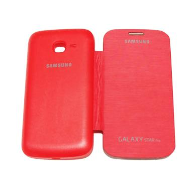 QCF Flip Cover Casing for Samsung G ... s S7262/Star Duos - Merah