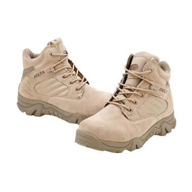 Delta Desert Military Combat Sepatu Pria Tactical Outdoor 6 Inch - Khaki