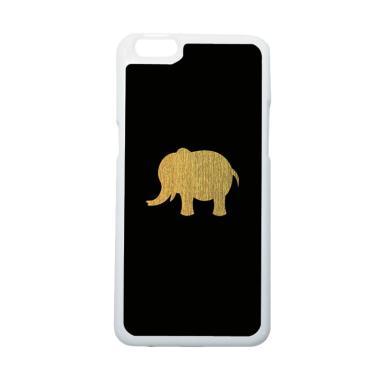 HeavenCase Hitam Motif Gajah Elepha ...  or Oppo R9s Plus - Putih