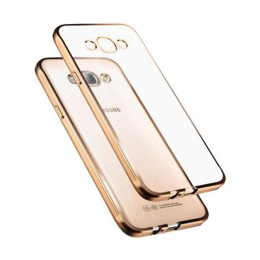 Case Jelly Transparan Shiny Chrome List Softcase Casing For Samsung Galaxy J5 2015