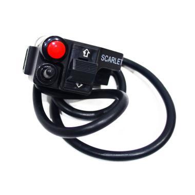 Raja Motor Scarlet CNC Saklar Holde ... f - Hitam [SKK8008-Hitam]
