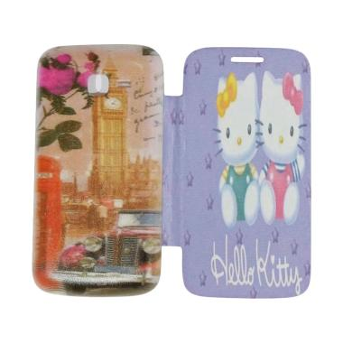 QCF Flip Cover Gambar Hello Kitty C ...  / Leather Case - Motif 2