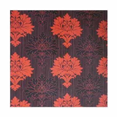 Java Wallpaper King NAE1289 Motif B ... asi Dinding - Hitam Merah