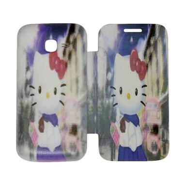 QCF Flip Cover Gambar Hello Kitty C ...  / Leather Case - Motif 7