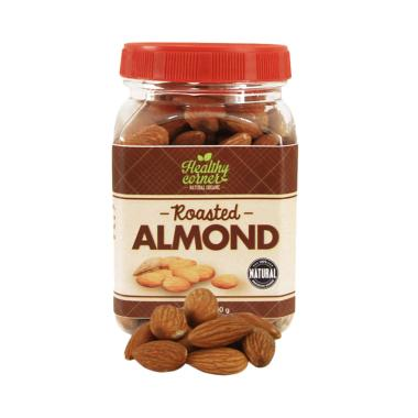 Healthy Corner Roasted Natural Whole Raw Almond Kacang Almond Panggang [180 g]