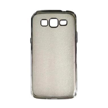 timeless design 26a9c 7e786 Case Jelly Transparan Shiny Chrome List Softcase Casing for Samsung Galaxy  J5 2015 / J5 - Hitam