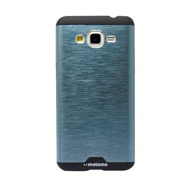 Motomo Hybird Backcase Hardcase Casing for Samsung Galaxy Grand Prime G530H - Biru Dongker