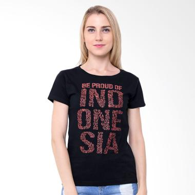 Be Proud of Indonesia Batik Glow in ... ees Atasan Wanita - Hitam