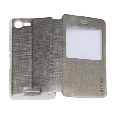 Mercury Flipshell Flip Cover with View Casing for Sony Xperia E3 - Silver