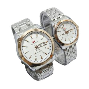 Swiss Army Couple SA2707AD Stainles ... angan Couple - White Gold