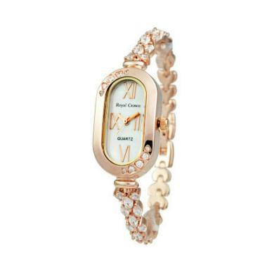 Royal Crown D20H645RC3801BR Jewelry Watch Jam Tangan Wanita - Rosegold