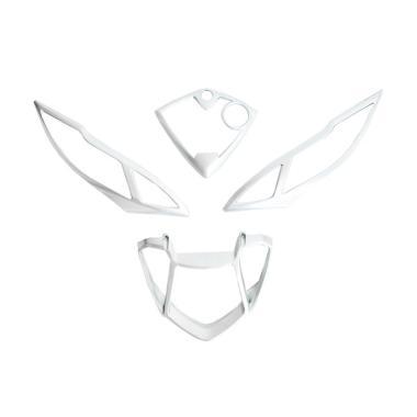 TGP Aksesoris Motor Ring Lampu Depan & Ring Lampu Belakang Yamaha Mio J- Silver [RLD3011-Silver]