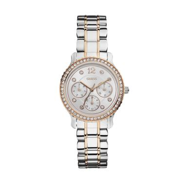 GUESS W0305L3 Enchanting Guess Watc ... Wanita - Silver Rose Gold