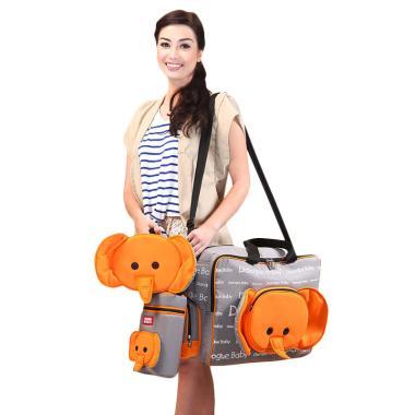 Dialogue Baby Tas Besar Bayi + Temp ... ecil Cute Series - Orange