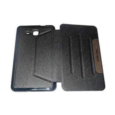 Samsung Leather Flip Cover Casing f ... 80 or T285 7 Inch - Hitam