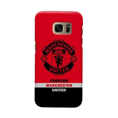 Indocustomcase MANUFC09 Manchester United Cover Casing For Samsung Galaxy S6