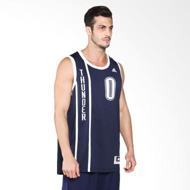 Adidas NBA Oklahoma City Thunder Ru ...   Biru Jersey Basket Pria