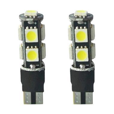 JMS T10 9 SMD 5050 Strobe Flash Modes Lampu Senja LED Mobil Dan Motor Lampu Strobo - White [1 Pair/2 Pcs]