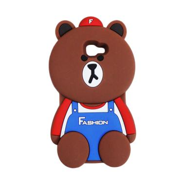 QCF Karakter 3D Bear Fashion Edition Silicon Softcase Casing for Samsung Galaxy J5 Prime - Coklat