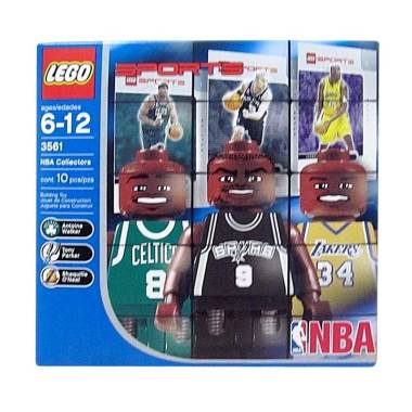 harga LEGO 3561 NBA Collectors Antoine Walker, Tony Parker, Shaq O'Neal Mainan Blocks and Stacking Toys Blibli.com