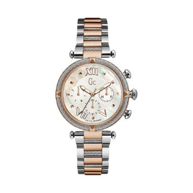 harga Guess Collection Gc Cablechic Y16002L1 Stainless Jam Tangan Wanita - Silver Rose Gold Blibli.com