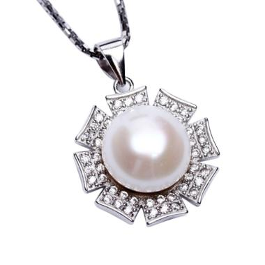 Royale Jewel  WGP 110C - Kalung Per ... White Gold Sterling Chain