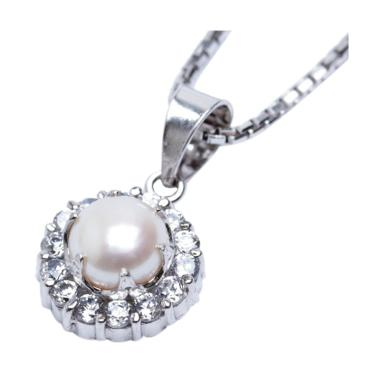 Royale Jewel WGP 093C Kalung Perak  ... White Gold Sterling Chain