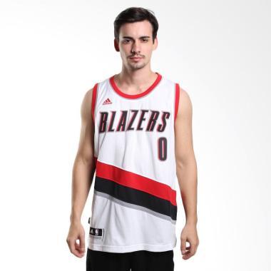 Adidas Men Basketball NBA Portland  ... man - Putih Jersey Basket