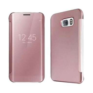 Case Mirror S View Hardcase Flip Cover Casing for Samsung Galaxy Note 4 - Pink