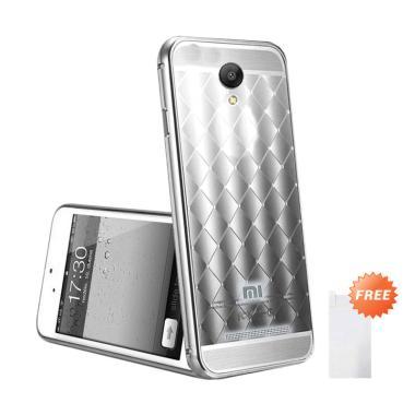 Case Bumper Elegant Diamond Series Sliding Casing for xiaomi Redmi Note 2 - Silver + Free