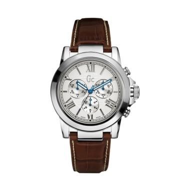 Guess Collection Chronograph Leathe ... S X41003G1 - Brown Silver