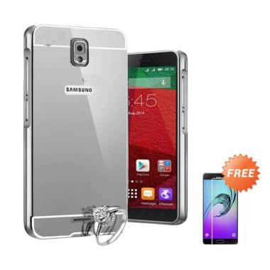 Case Bumper Chrome With Backcase Mirror Casing For Samsung Galaxy Grand 9082 Or Grand Neo -