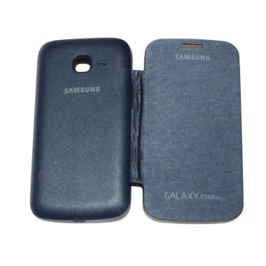 QCF Flipcase Flip Cover Casing for  ... 7262/Star Duos - Biru Tua