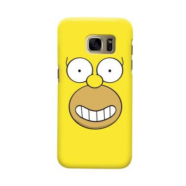 Indocustomcase Cartoon Hommer Simson Cover Casing for Samsung Galaxy S6 Edge